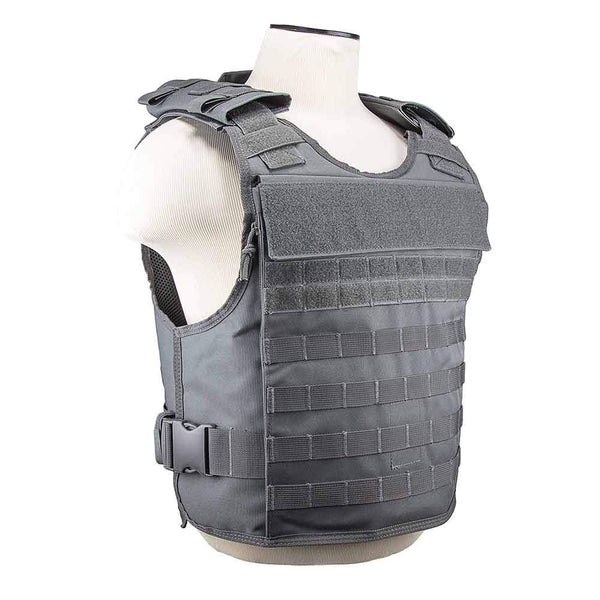 The Vism plate carrier with external hard plate pockets one size med - x-large for law enforcement.