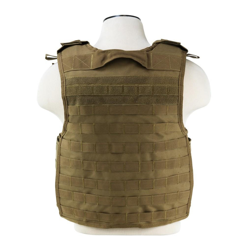 VISM Quick Release Plate Carrier Size Med - 2 XL - Color Tan