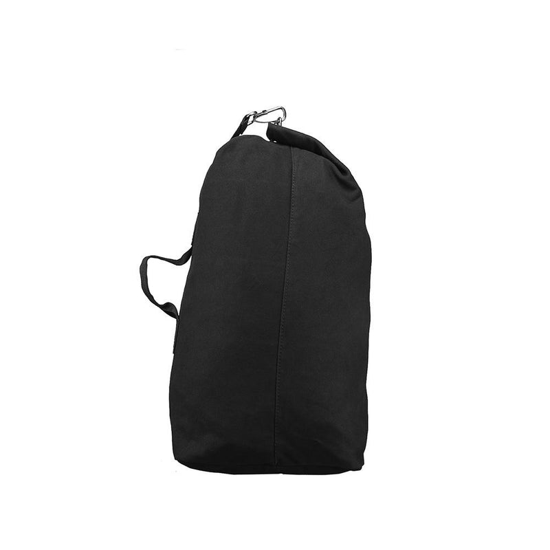 The Vism small duffel bag with shoulder straps for multi-purpose uses shown in color black.