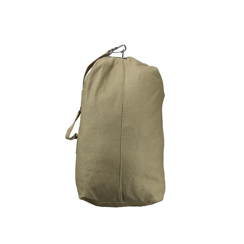 The Vism small duffel bag with shoulder straps for multi-purpose uses shown in the color tan.