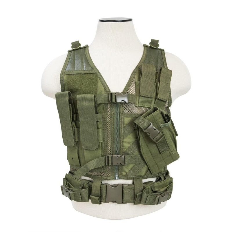 Vism Tactical Vest Fully adjustable Tactical Vest that helps keep your shooting gear organized easy access
