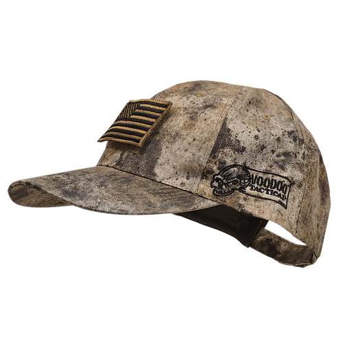 Soft comfortable poplin cap with embroidered Voodoo Tactical logo for women and men headgear protection.
