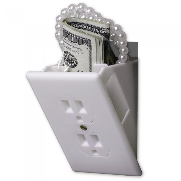 Wall Outlet with Hidden Wall Safe Compartment to safely hide valuables inside