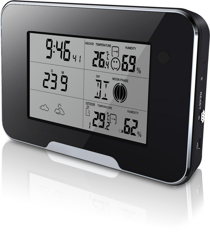 HD 1080P Weather Station Camera Wi-Fi Version connects to the internet via Wi-Fi. You can live stream.