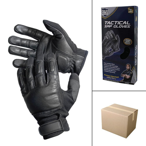 36 Units Police Force Tactical SAP Gloves - XLarge
