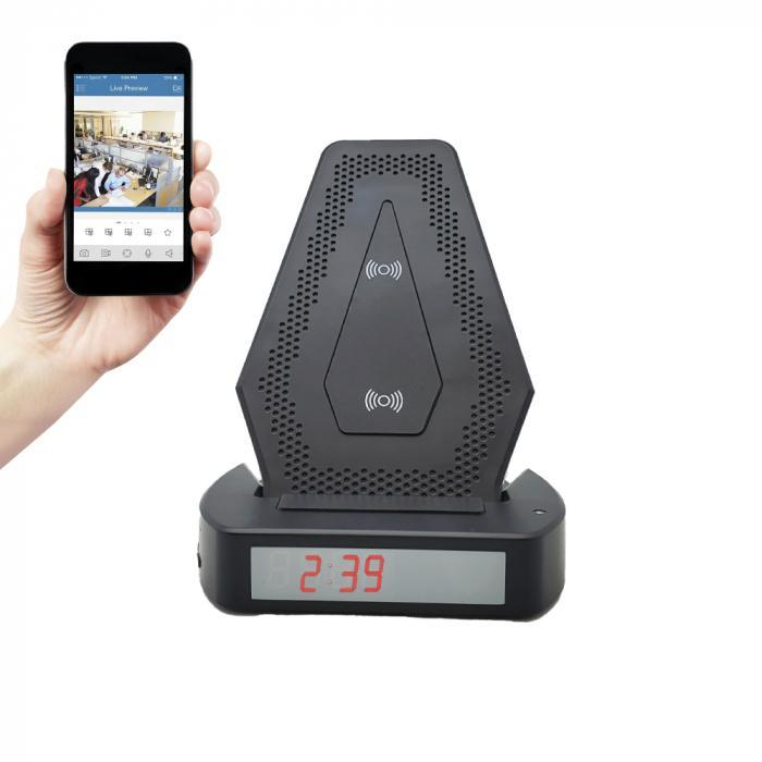 Wireless phone charger Wi-Fi phone charger with motion detection & real-time notifications.