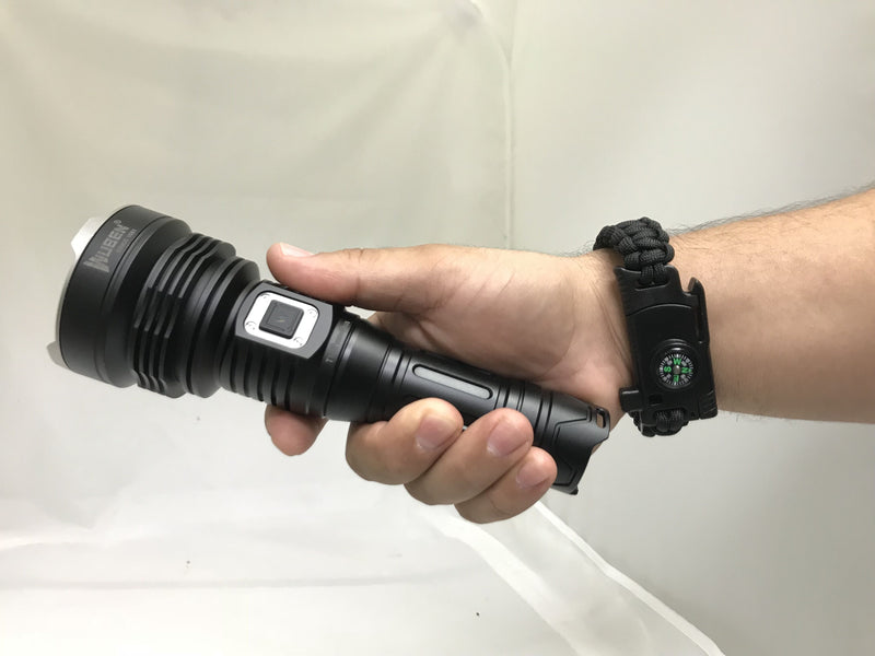 Wuben 3500 Lumen Flashlight with Survival Bracelet