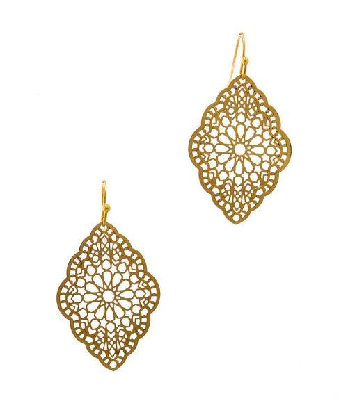 Stylish Filigree Chic Drop Earring gold eazup