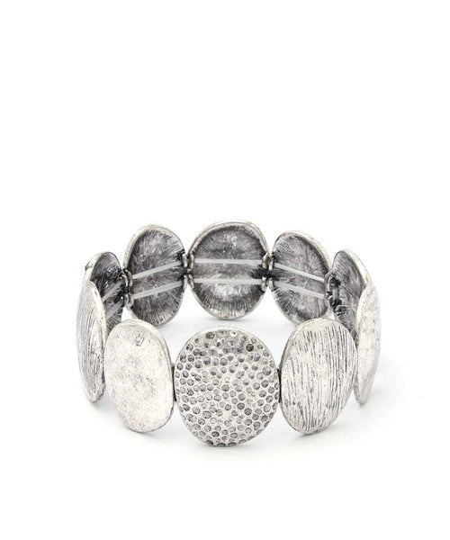 Oval Metal Stretch Bracelet