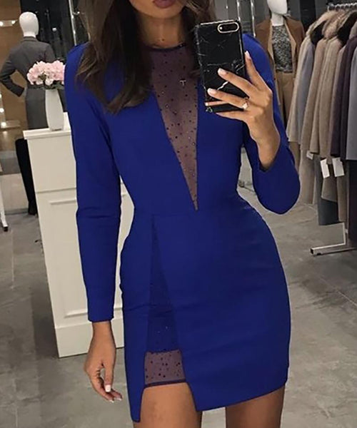 Cut Out Slit Bodycon Dress