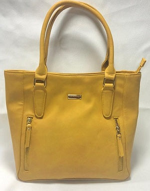 Soft leather designer handbag