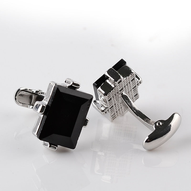 Black Crystal Cuff links