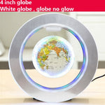 LED floating globe magnetic levitation light.