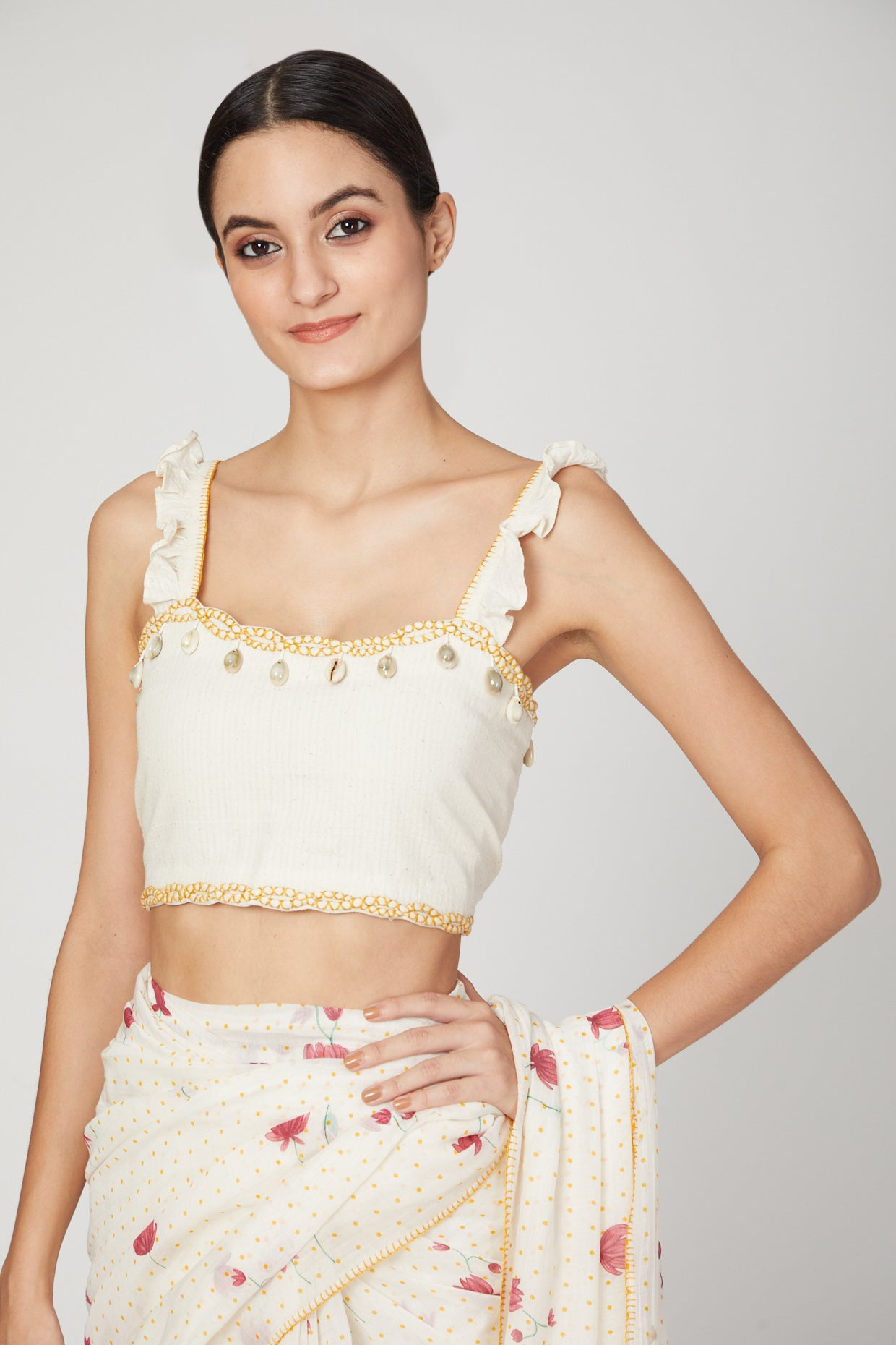 White Lotus saree blouse