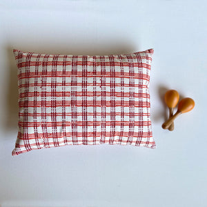 WHITEWATER KIDS GIFT SET - ORGANIC MANJHA PRINT KAPOK PILLOW & MARACAS