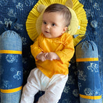 Load image into Gallery viewer, UNISEX ORGANIC YELLOW ANGRAKHA & WHITE PANTS