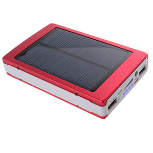 Portable Solar Panel Dual USB External Mobile Battery Power Bank Pack Charger for iPhone HTC