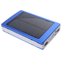 Load image into Gallery viewer, Portable Solar Panel Dual USB External Mobile Battery Power Bank Pack Charger for iPhone HTC