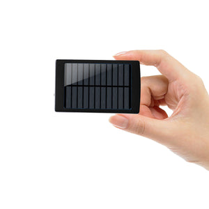 10000mAh Portable Solar Mobile Power Bank USB Panel Outdoor Travel Emergency Charger