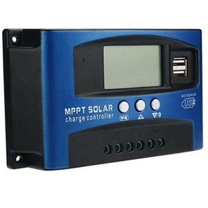 30-100A MPPT Solar Panel Regulator Charge Controller 12v/24V Auto Focus Tracking