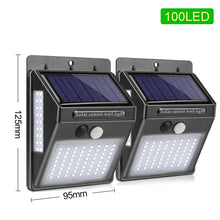 Load image into Gallery viewer, 100 LED Solar Light Outdoor Solar Lamp PIR Motion Sensor Wall Light Waterproof Solar Powered Sunlight for Garden Decoration