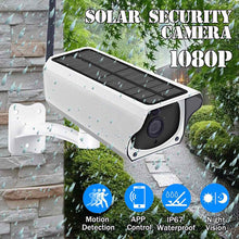 Load image into Gallery viewer, 1080P Solar IP Camera 2MP Wireless Wi-fi Security Surveillance Waterproof Outdoor Camera IR Night Vision Solar Power HD Camera
