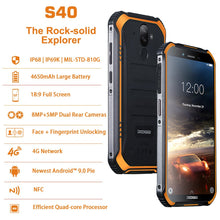 Load image into Gallery viewer, DOOGEE S40 4GNetwork Rugged Mobile Phone 5.5inch Display 4650mAh MT6739 Quad Core 3GB RAM 32GB ROM Android 9.0 8.0MP IP68/IP69K