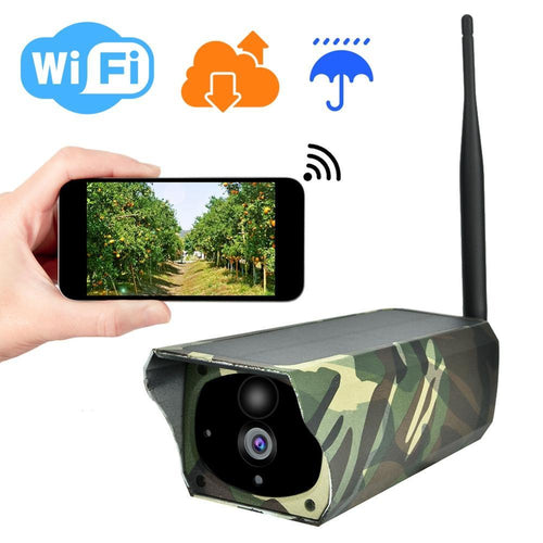 Solar Power Wifi IP Camera Wireless Outdoor Indoor Waterproof 1080P Night Vision APP Remote Monitor Security Surveillance Camera