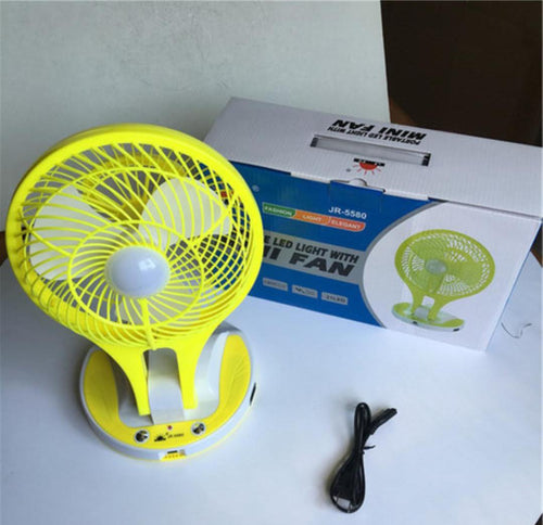 Rechargeable Mini Fan With LED