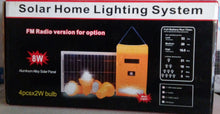 Load image into Gallery viewer, 8W Solar Lighting System