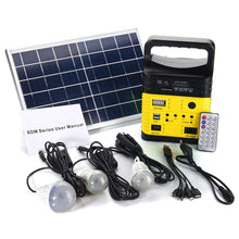 Load image into Gallery viewer, 6W 6V Solar Panel Portable Solar AC Kit  Solar Power System Camping Portable Generator With Bulbs