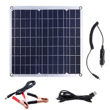 Load image into Gallery viewer, 50W 12/5V Portable Solar Panel Dual USB For Car RV Battery Charge