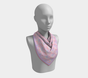 Bonjour Scarf, Electric Rose