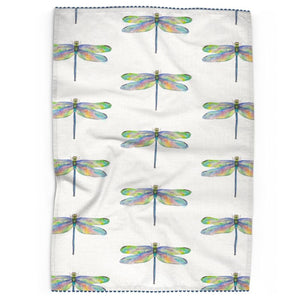 Dragonfly Tea Towel With Trim