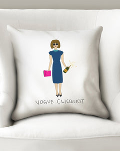 Vogue Clicquot Throw Pillow Case