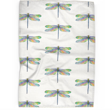 Load image into Gallery viewer, Dragonfly Tea Towel With Trim