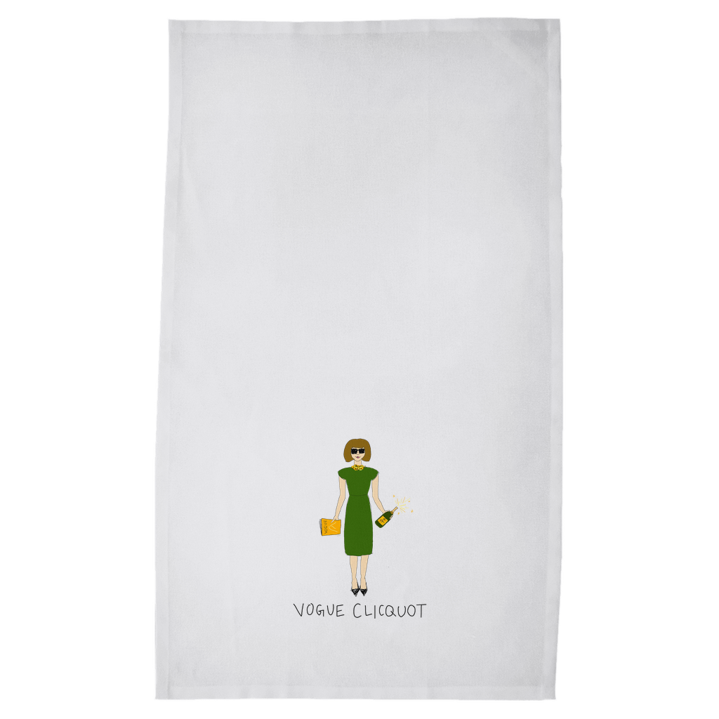 Vogue Clicquot Single Tea Towels
