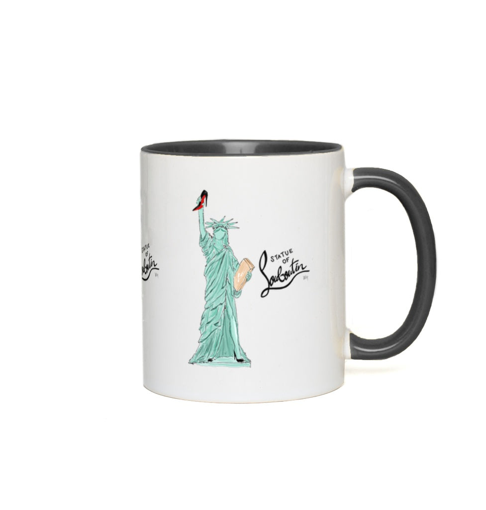 Statue of Louboutin Accent Mugs