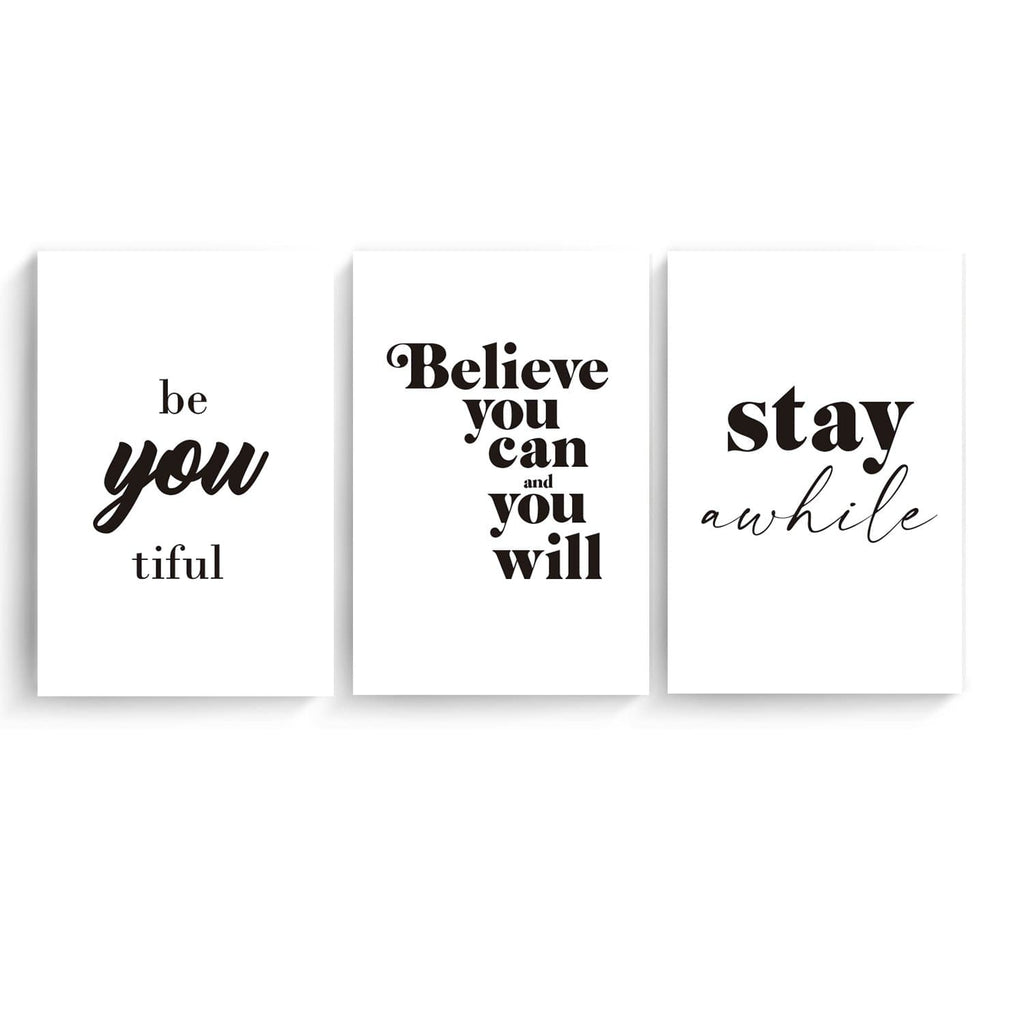 Canvas Compuesto Frase You, Believe & Stay