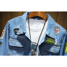 Load image into Gallery viewer, DIMUSI Men's Denim Jackets