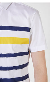 Men Striped Slim Fit Shirt