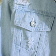 Load image into Gallery viewer, Light Blue jean jacket mens