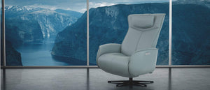 Fjords Modern Axel Recliner - Dual Motion Concealed Footrest Relaxer - sofacreations