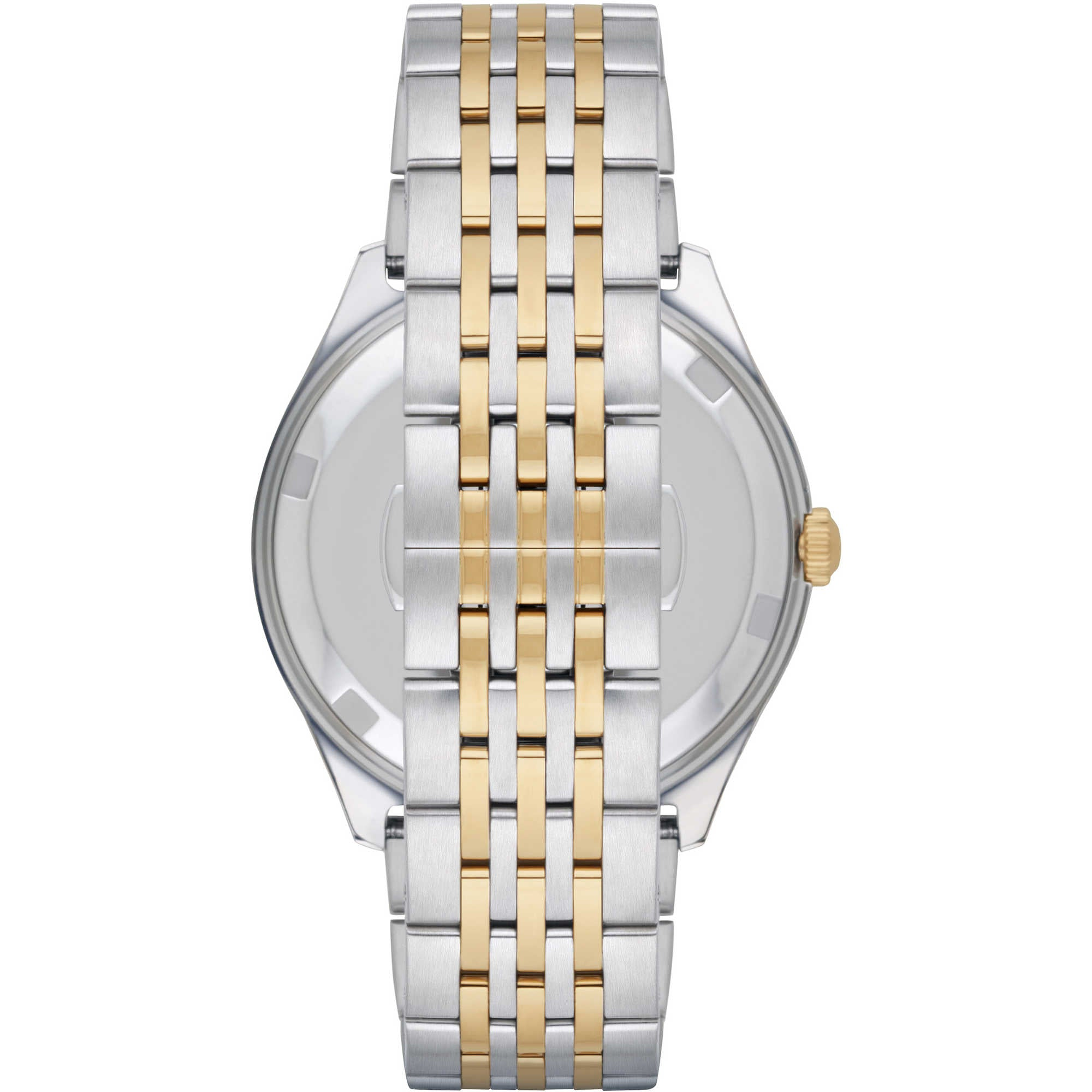 gold emporio women itm armani main steel silver two watches tone s stainless womens watch