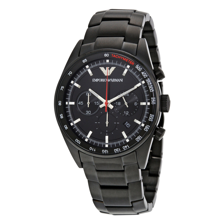 Details about Emporio Armani Sportivo Men s Watch AR6094 Black Stainless  Steel Chronograph-NEW a96d69ed5e