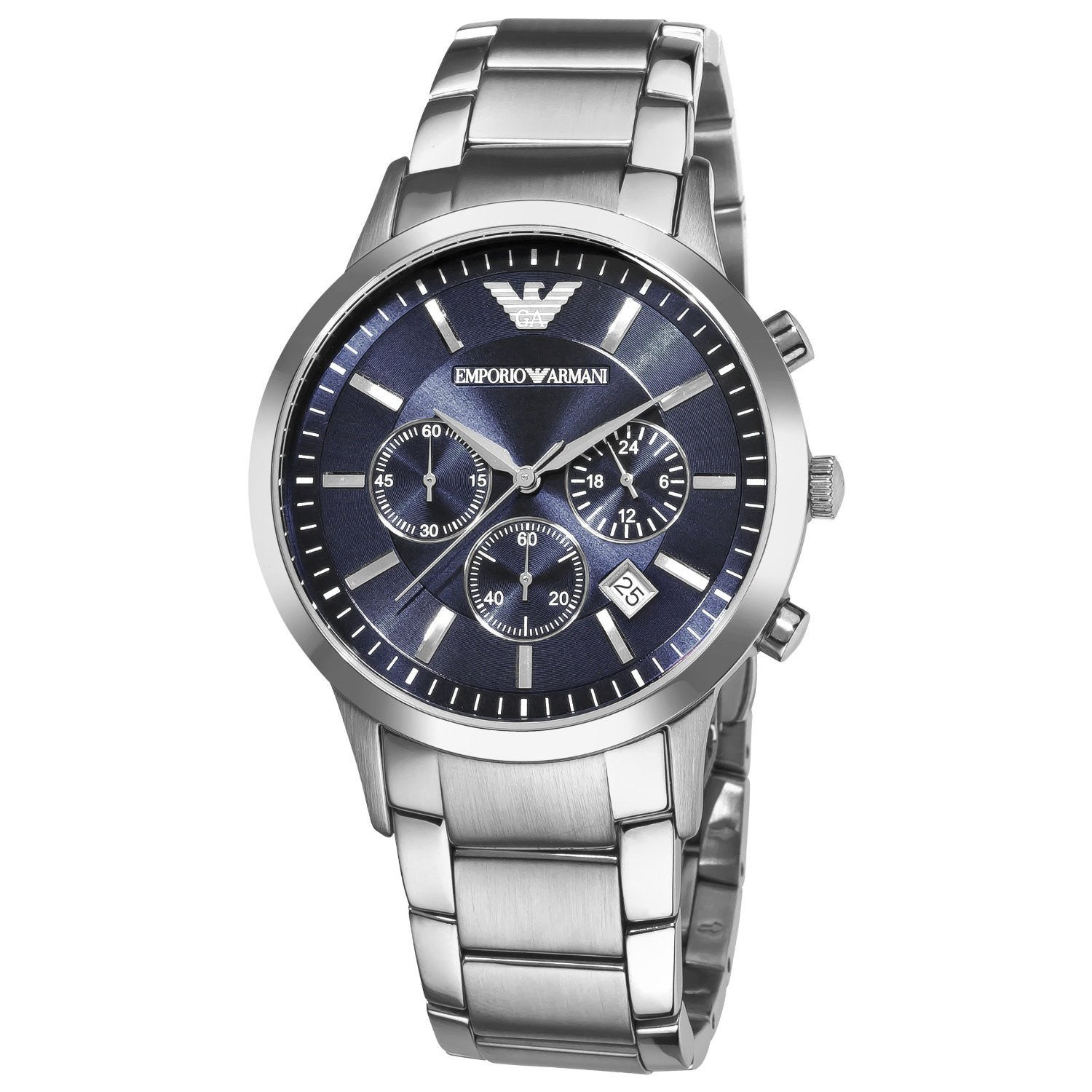 Cavallo Una notte imballare  Emporio Armani Classic Watch Navy Blue/Silver Quartz Analog Men's ...