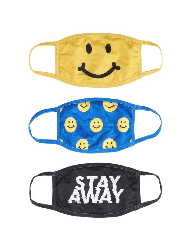 3 pack Happy Face, Happy Smile, Stay Away.
