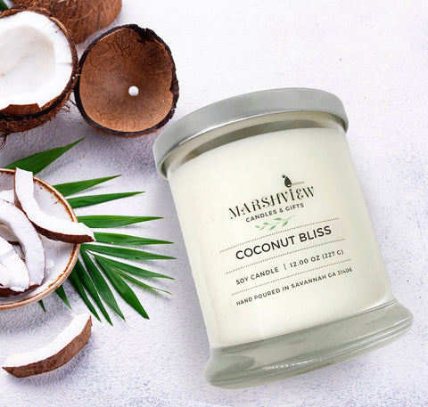Coconut Bliss Luxury Scented Soy Wax Candle/Wax Melts