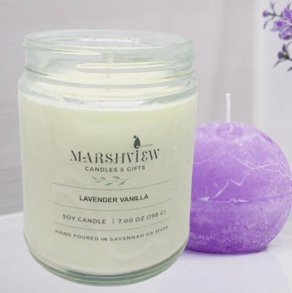 Lavender Vanilla Scented Soy wax candle, candle gift sets, relaxing candle, lavender candle, gifts for her, aromatherapy candles, wax melts