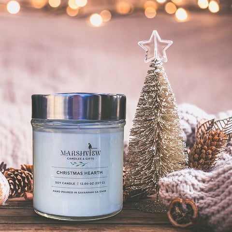 Christmas Hearth Scented Soy candles, Christmas scented candles, Holiday fragrances, Candles gift sets, soy wax candles,